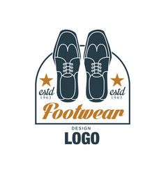 Footwear logo design estd 1963 vintage badge for vector