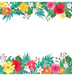Frame for your text with floral watercolor vector image vector image