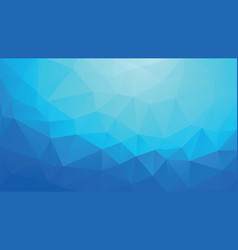 geometric blue ice background vector image