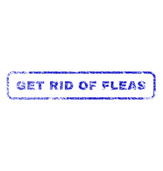 Get rid fleas rubber stamp vector