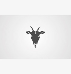 goat icon sign symbol vector image