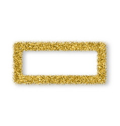 gold glitter frame with bland shadows vector image
