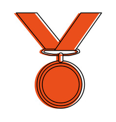 Golden medal icon image vector