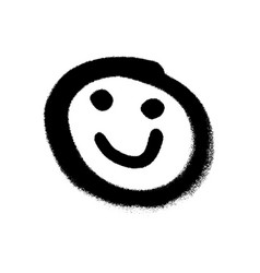 graffiti grunge emoji with black ond white colour vector image
