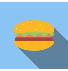 Hamburger flat icon vector image