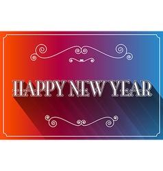 Happy New Year Slogan vector image