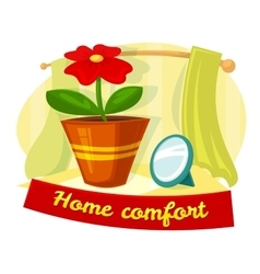 Home comfort concept design vector