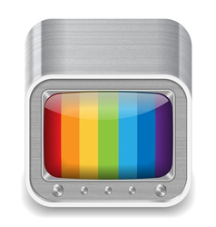 Icon for television set vector image