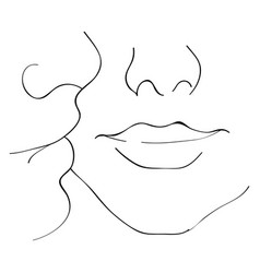 Image a kiss on cheek kiss boyfriend vector