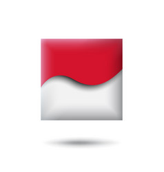 Indonesia flag icon in shape square waving vector