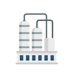 Industrial refinery factory icon flat style vector