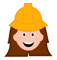 isolated female engineer avatar vector image