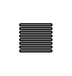 justify align icon vector image