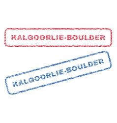 Kalgoorlie-boulder textile stamps vector