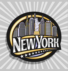 Logo for new york city vector