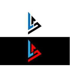 Ls initial logo and icon design vector
