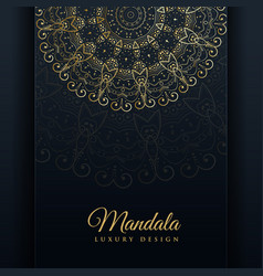 Luxury ornamental mandala design background in vector