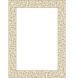 maze border vector image