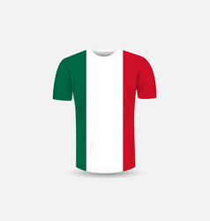 mens t-shirt icon and mexico flag vector image