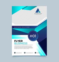 modern business flyer design template vector image