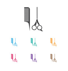 of barbershop symbol on vector image