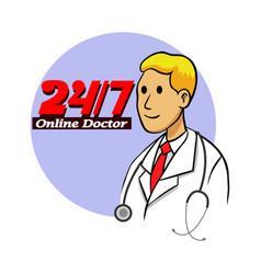 Online doctor vector