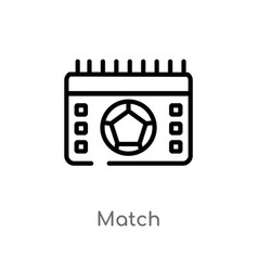 outline match icon isolated black simple line vector image