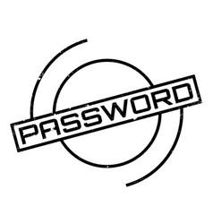 Password rubber stamp vector