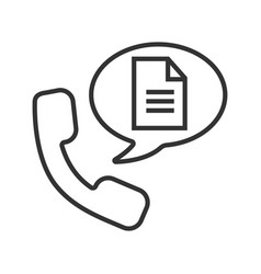 phone call for instructions linear icon vector image