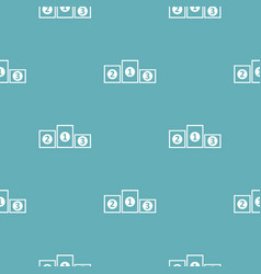 podium pedestal pattern seamless blue vector image