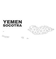 Polygonal mesh socotra archipelago map vector