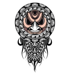 polynesian tattoo design mask vector image