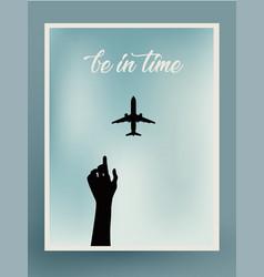 postcard design airplane vector image