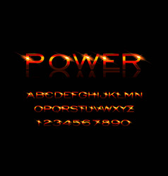 power style font vector image