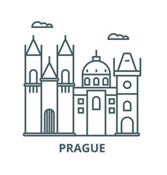 prague sign line icon linear concept vector image