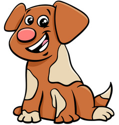 puppy or dog cartoon animal character vector image