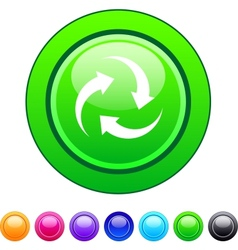 Recycle circle button vector image