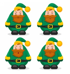 Set of flat characters dwarves vector