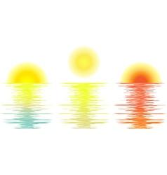 Set sunrise daylight sunset vector