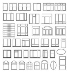 Set window elements for design vector