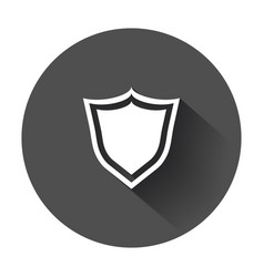 shield protection icon in flat style with long vector image