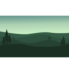Silhouette of hill green backgrounds vector