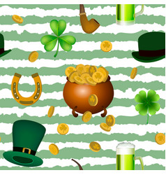 st patrick s day seamless pattern vector image