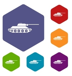 Tank icons set vector image