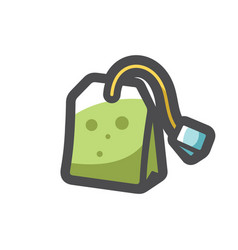 teabag with label icon cartoon vector image