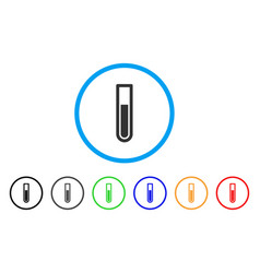 Test tube rounded icon vector