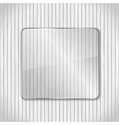 Transparent glass frame vector