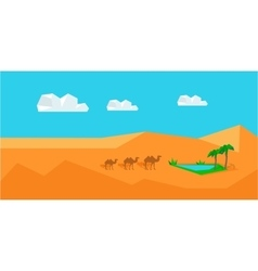 Transportation Goods by Camel Worldwide Warehouse vector image