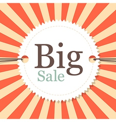 Vintage Retro Big Sale Tag - Label on Red and vector
