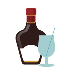 whisky bottle icon vector image